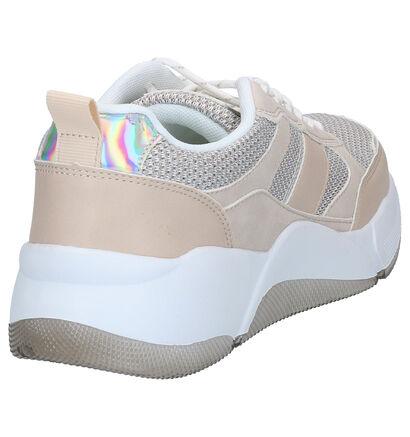 Dazzle Beige Sneakers in kunstleer (276491)