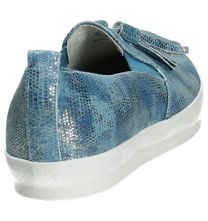 Youh! Chaussures slip-on en Bleu clair en cuir (201298)