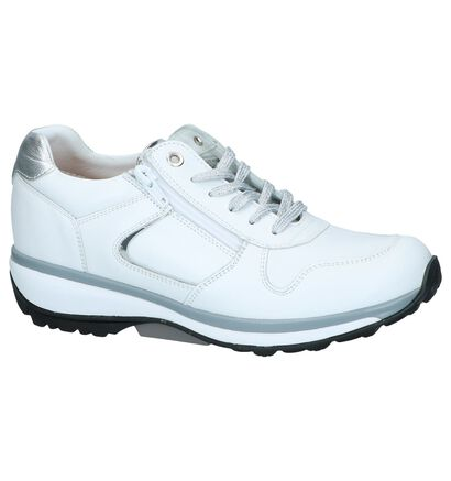 Witte Schoenen met Rits/Veter Xsensible Jersey in leer (246451)