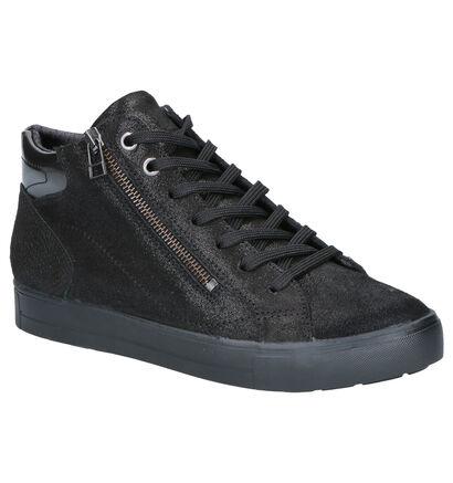 Mirel Baskets hautes en Noir en nubuck (256440)