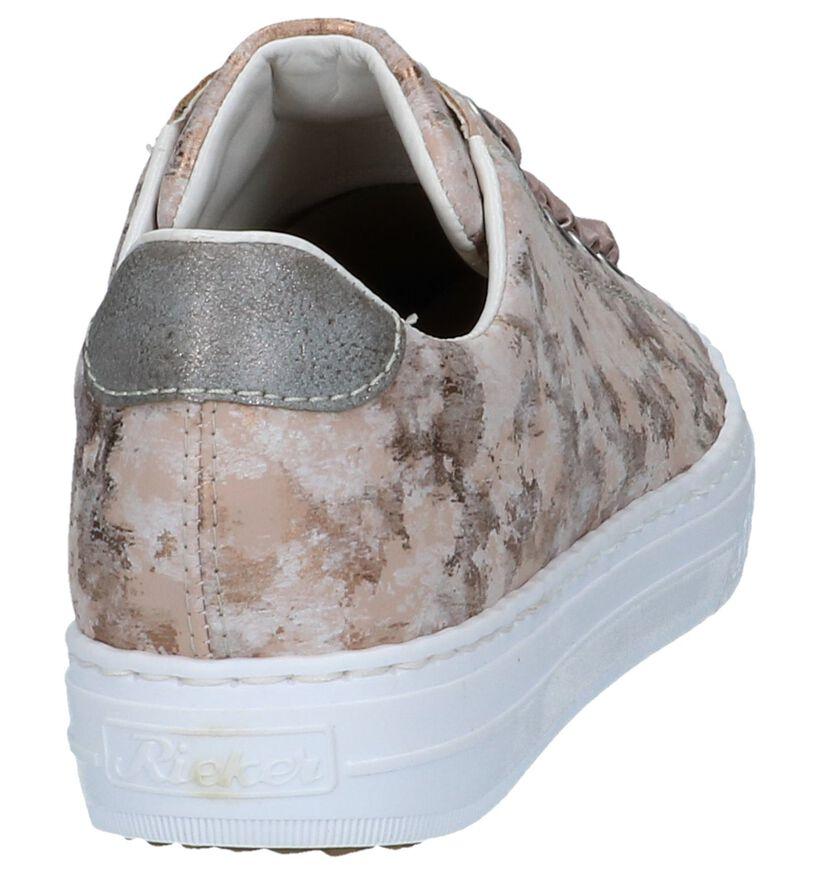 Rieker Chaussures à lacets en Rose clair en simili cuir (239629)