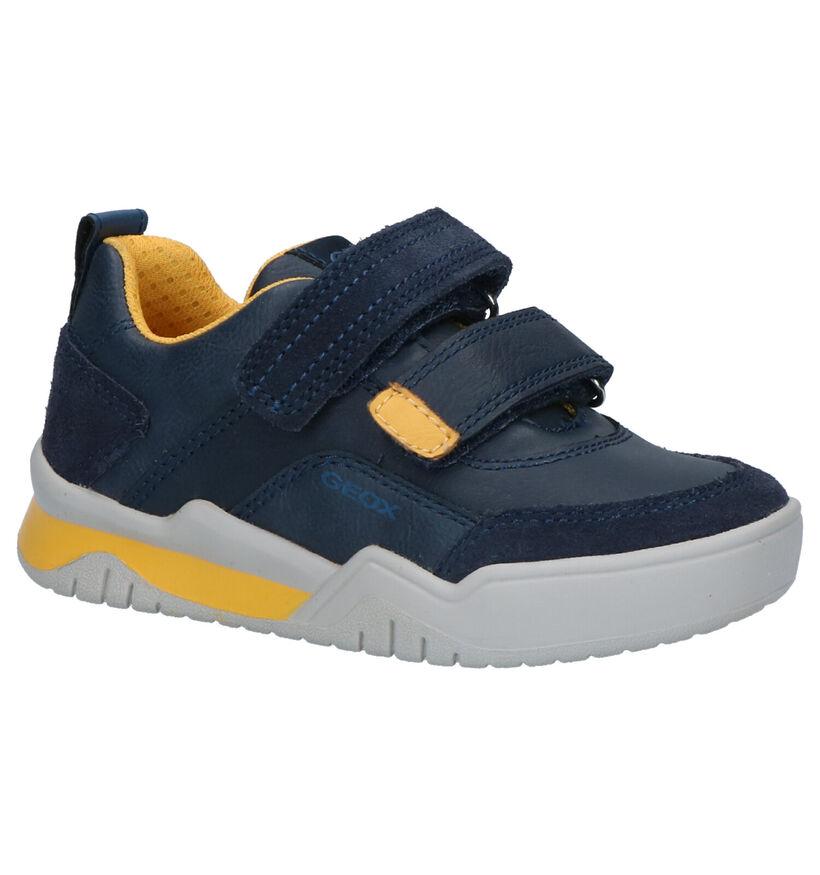 Geox Blauwe Sneakers in leer (254516)