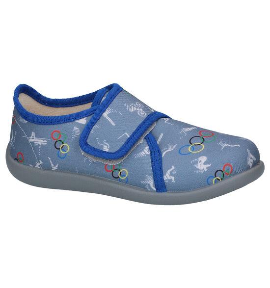 Bellamy Posh Pantoufles en Bleu