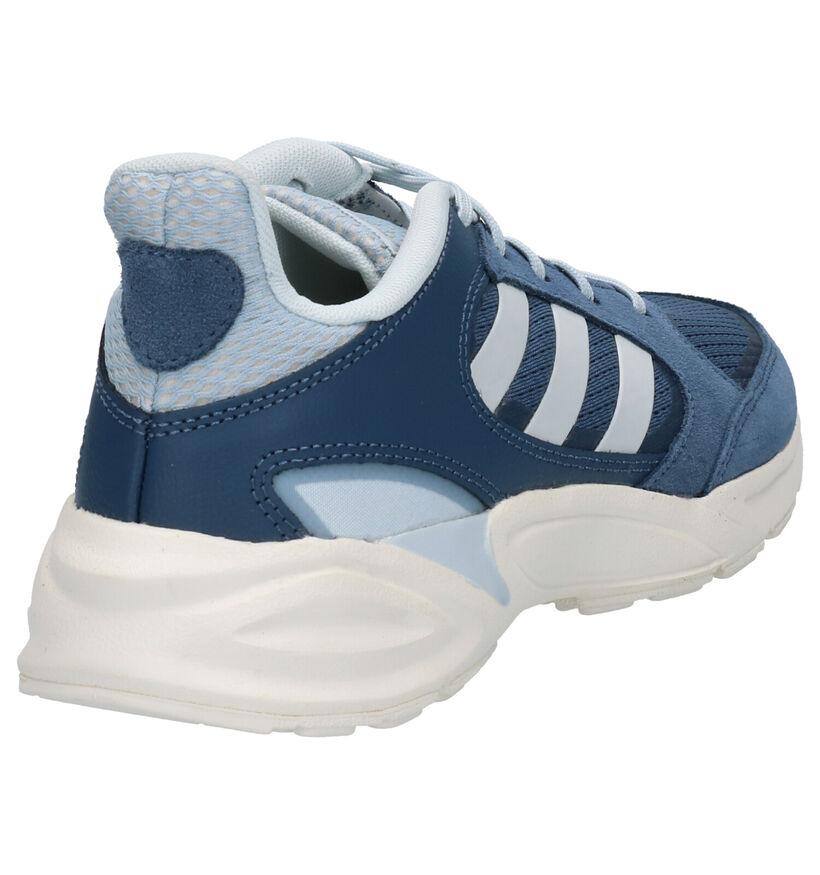 adidas 90S Valasion Baskets en Bleu en daim (261512)