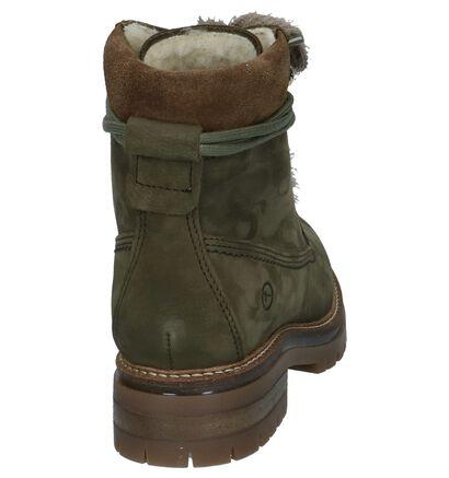 Olijfgroene Boots met Wol Tamaris , Groen, pdp