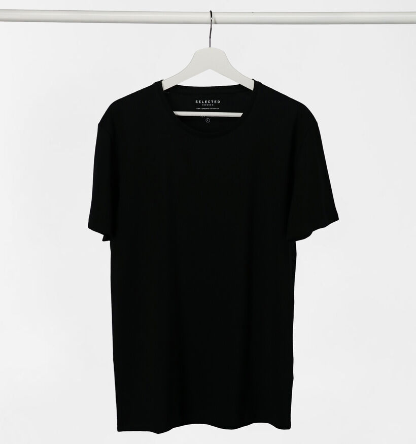 Selected Homme 3 Pack T-shirts en Noir (281405)