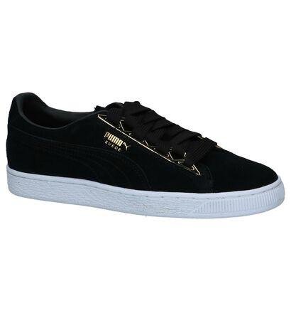 Puma Suede Jewel Zwarte Sneakers in daim (221658)