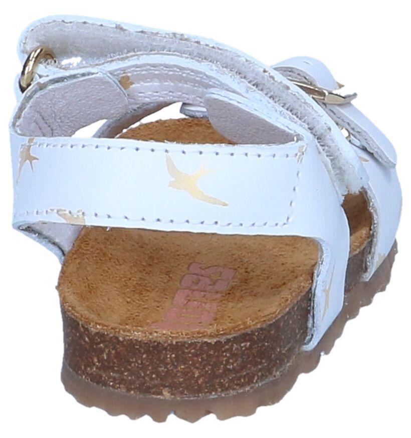 Lichtblauwe Sandalen STONES and BONES Crast in leer (239904)