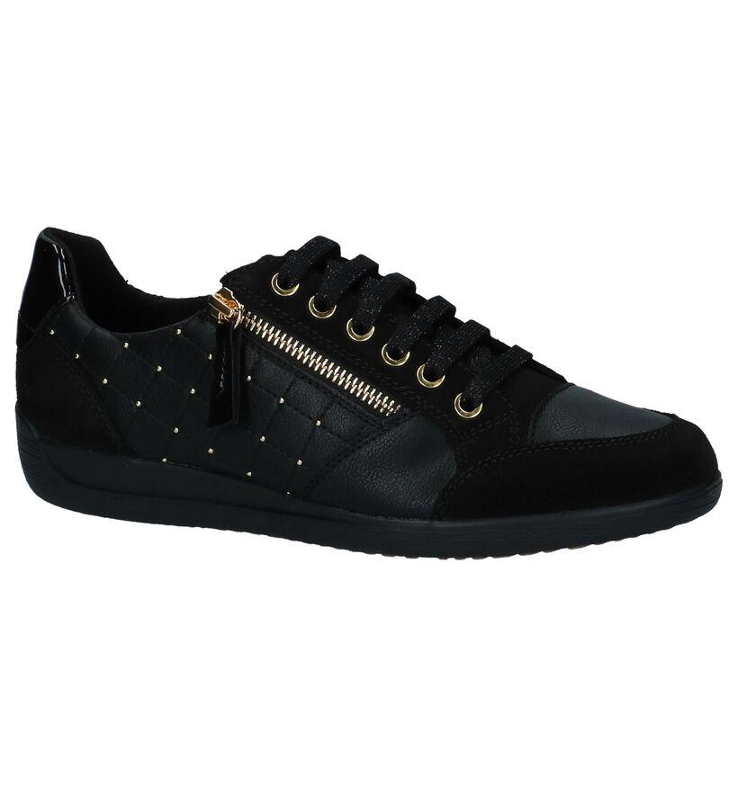 Geox Chaussures à lacets en Noir en cuir (223037)