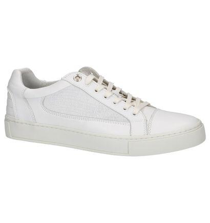 Lage Geklede Sneakers Australian Gibson Wit in leer (213065)