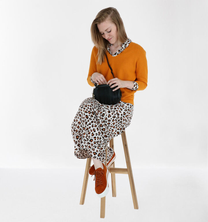 Casual Orange Leopard