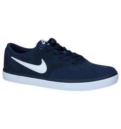 Nike SB Check Solar Zwarte Skateschoenen, Blauw, pdp