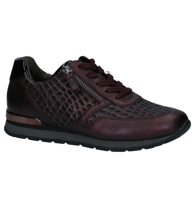 Gabor Comfort Chaussures à lacets en Violet foncé en cuir verni (231163)