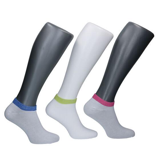 Teckel Socks Witte Enkelsokken - 3 Paar