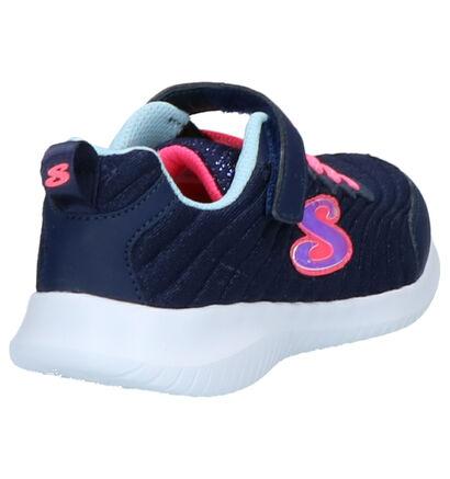 Skechers Ultra Flex Blauwe Slip-on Sneakers in stof (256135)