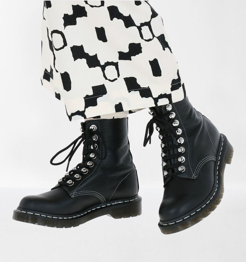 Dr. Martens 1460 Pascale Zwarte Boots in leer (277068)