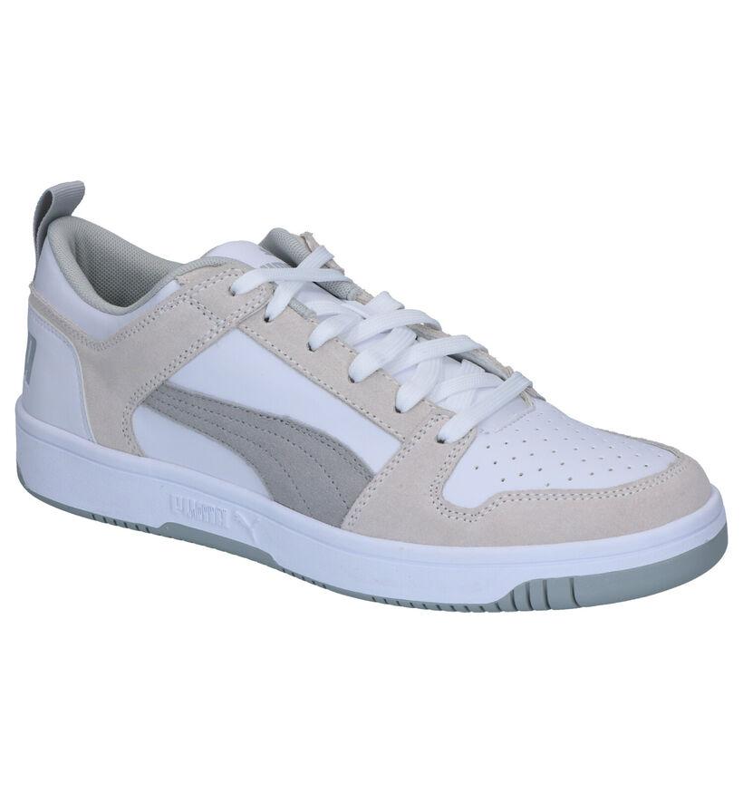 Puma Rebound Layup Witte Sneakers in kunstleer (252597)