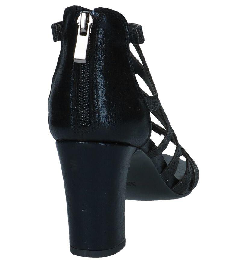 Youh! Sandales à talons en Noir en textile (239201)