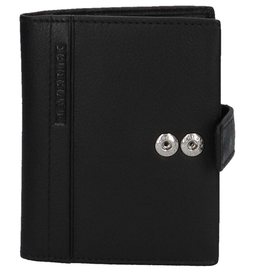 Maverick Porte-cartes en Noir en cuir (235623)