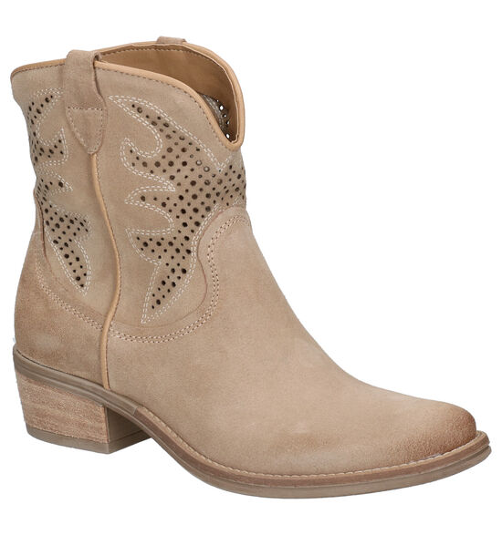 Via Limone Beige Western Boots