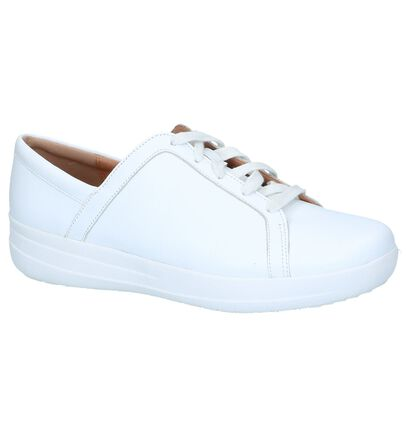 Witte Sneakers FitFlop F-Sporty II Lace Up in leer (240998)