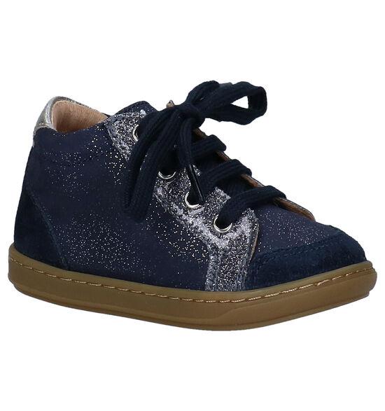 Shoo Pom Kikki Blauwe Hoge Schoenen