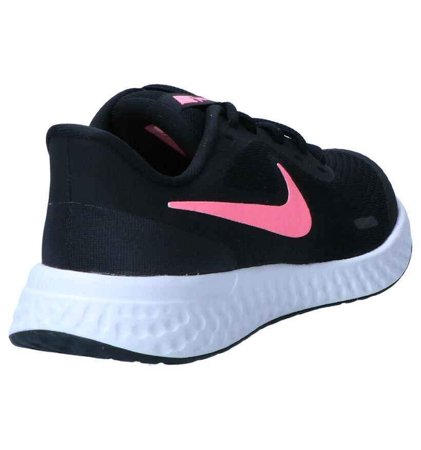 Nike Revolution Baskets en Noir en simili cuir (274604)