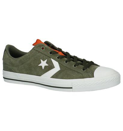 Converse Star Player OX Groene Sneakers in daim (233489)