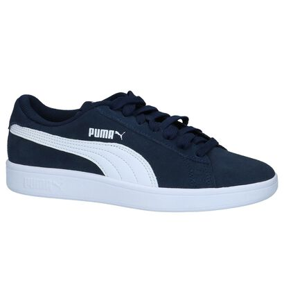 Donkerblauwe Sneakers Puma Smash v2 SD in daim (252632)