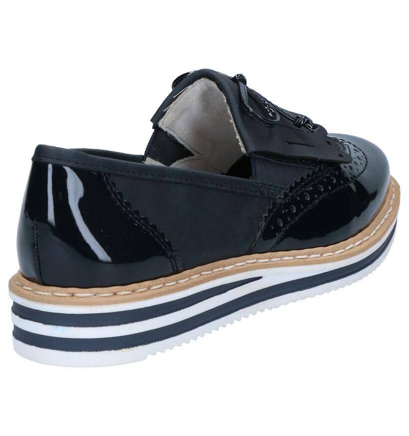 Rieker Chaussures slip-on en Argent en cuir (271866)