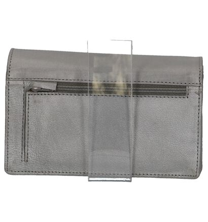 Euro-Leather Zwarte Overslagportefeuille in leer (275638)