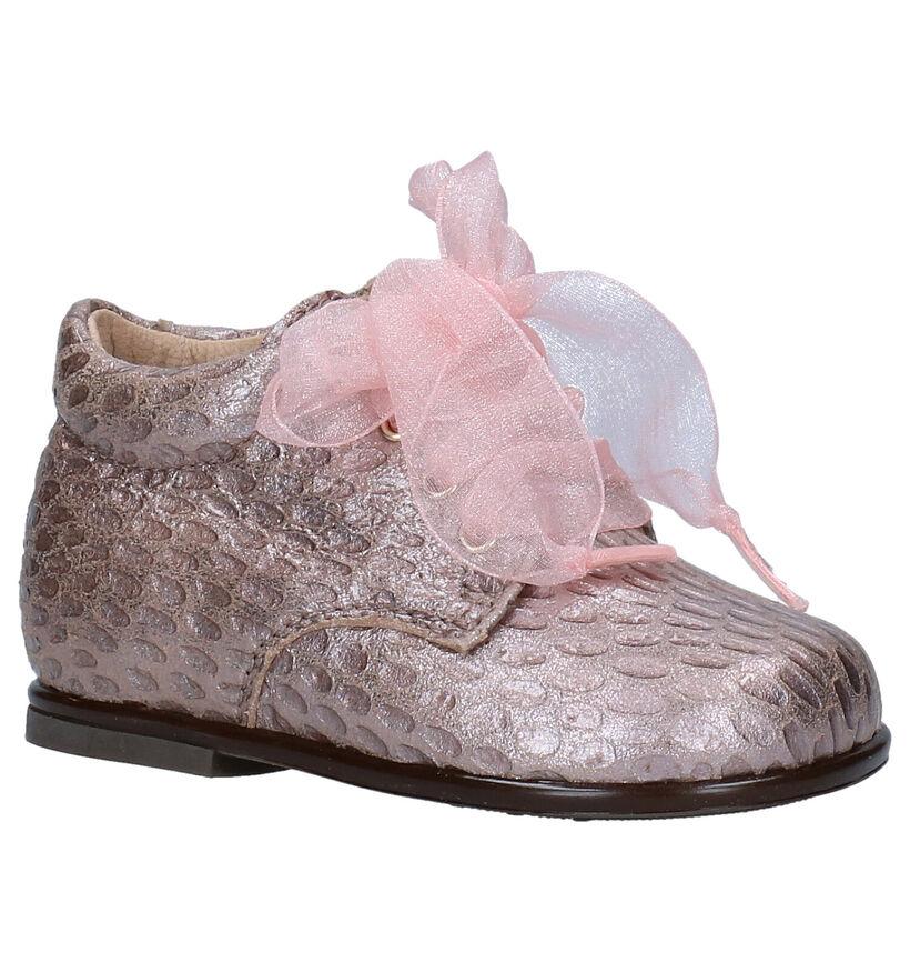 Beberlis Roze Babyschoenen in leer (281161)