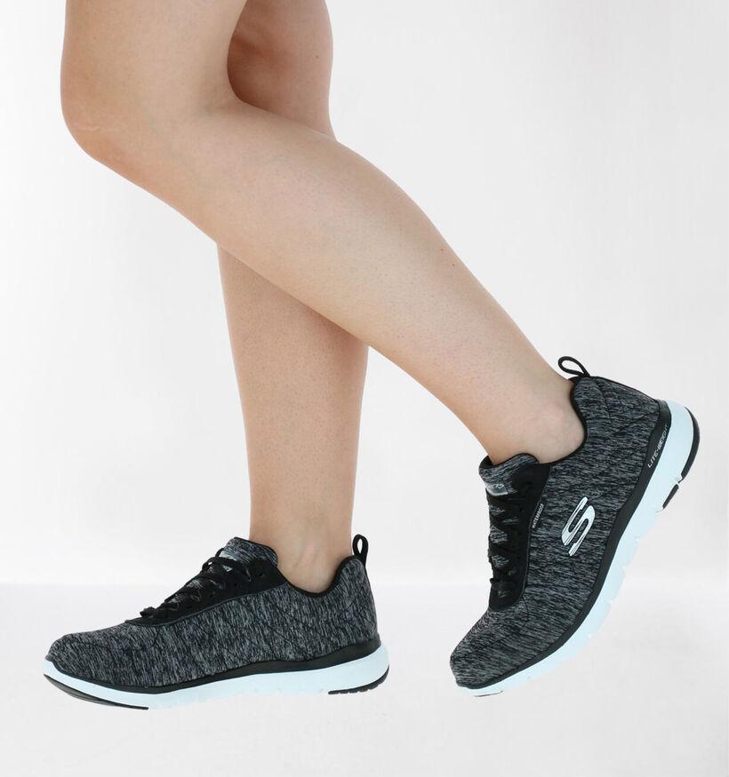 Skechers Flex Appeal 3.0 Grijze Sneakers in stof (279353)