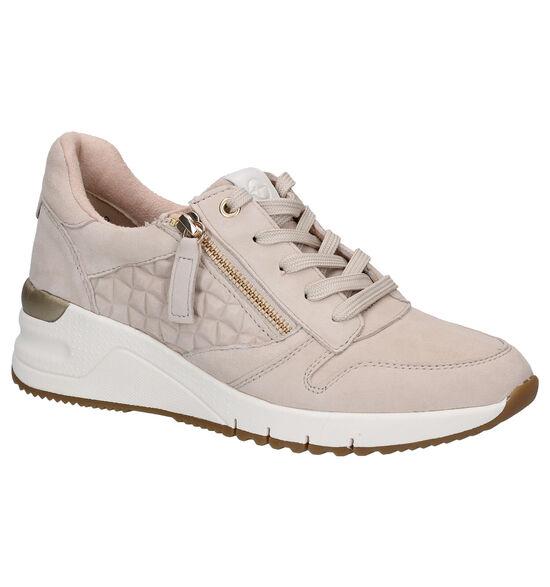 Tamaris Chaussures à lacets en Beige