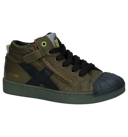 Little David Chaussures hautes en Vert kaki en cuir (232490)