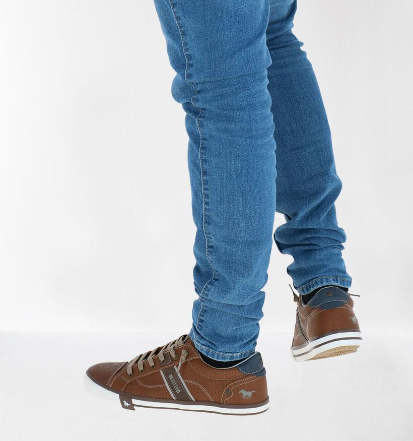 Mustang Chaussures slip-on en Cognac en simili cuir (285969)