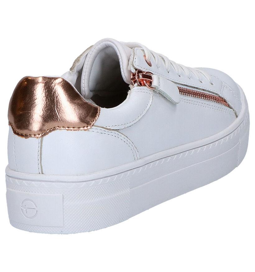Tamaris Witte Sneakers in kunstleer (269809)
