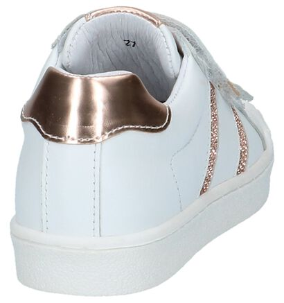 Little David Molly Witte Sneakers met Bronzen Steentjes, Wit, pdp