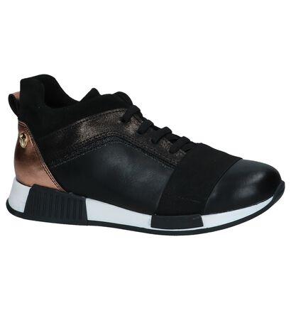 Zwarte Sneakers Scapa in leer (235867)