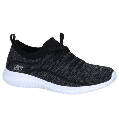 Lichtgrijze Slip-on Sneakers Skechers Ultra Flex Statements, Zwart, pdp