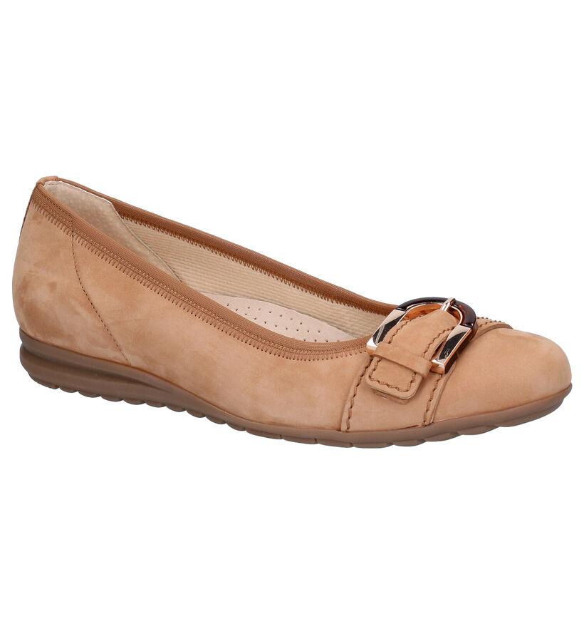 Gabor Easy Walking Cognac Ballerina's in nubuck (287747)