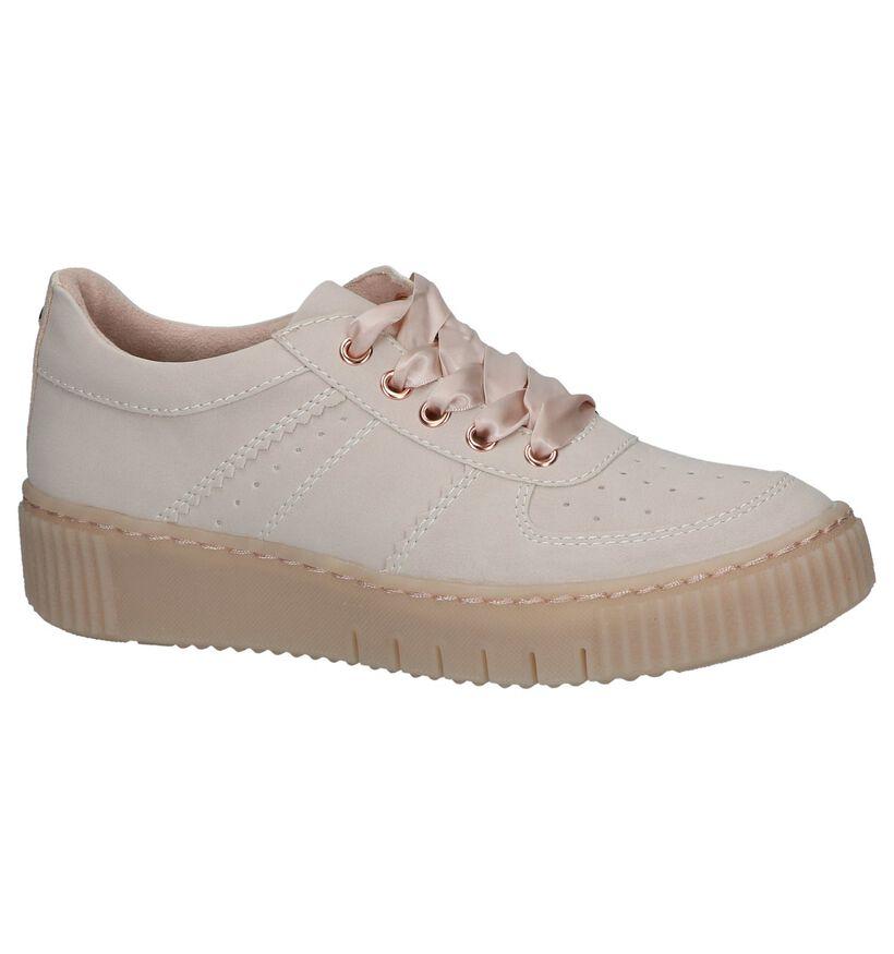 Tamaris Chaussures à lacets en Rose en simili cuir (237696)