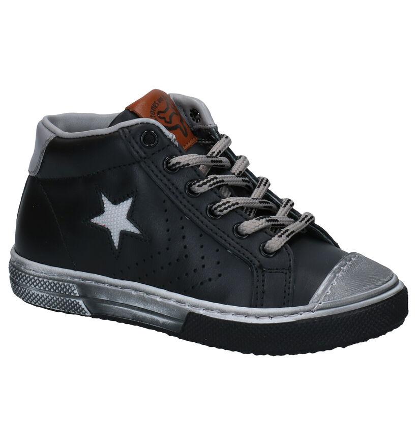 STONES and BONES Robbi Chaussures hautes en Noir en cuir (278904)