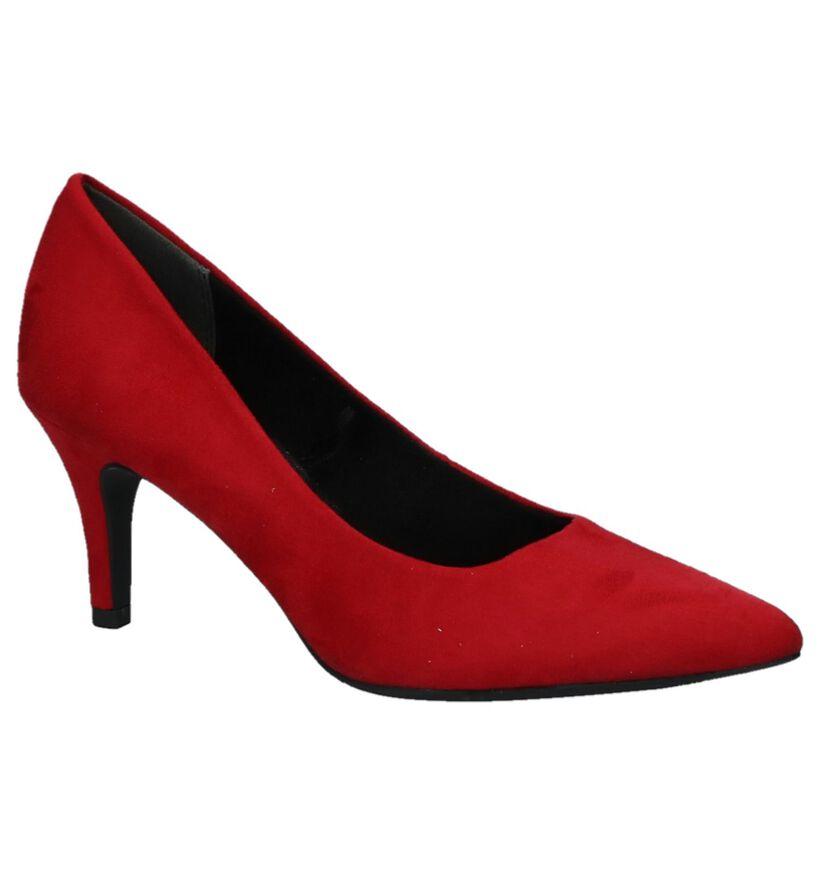 Marco Tozzi Escarpins classique en Rouge foncé en textile (226301)