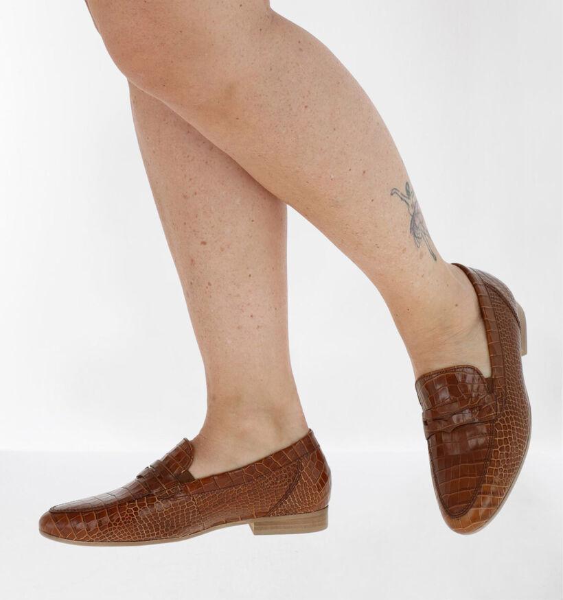 Gabor OptiFit Cognac Loafers in leer (282294)