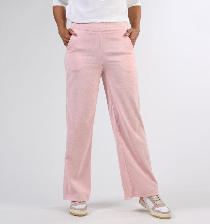 Dolce C. Pantalon Classique en Rosé