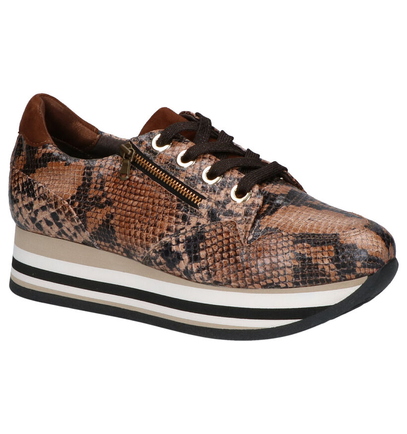Softwaves Chaussures à lacets en Jaune en cuir (261467)