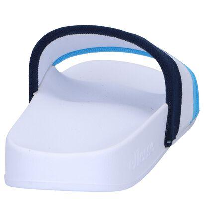 Ellesse Borgaro Claquettes de piscine en Blue et Blanc, Multicolore, pdp