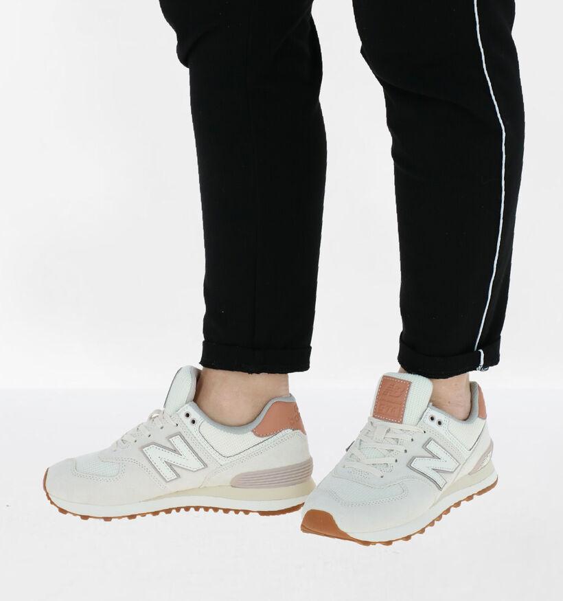 New Balance 574 Groene Sneakers in nubuck (261529)