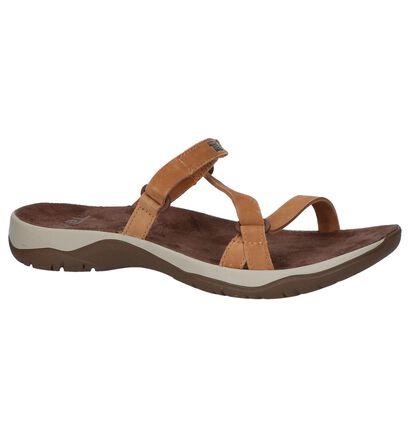 Cognac Slippers Teva Elzada Slide Leather in nubuck (242645)